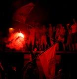 Ventilateurs célébrant la victoire Images libres de droits