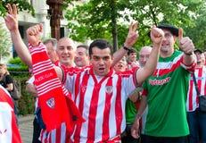 Ventilateurs d'Atletico Bilbao Photo libre de droits