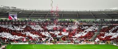 Ventilateurs de club du football de Torino Photos libres de droits