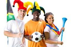 Ventilateurs de football Photos stock