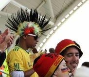 Ventilateurs de football africains Photos libres de droits