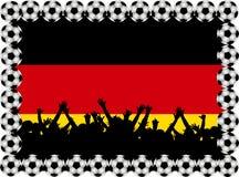Ventilateurs de football Allemagne illustration de vecteur