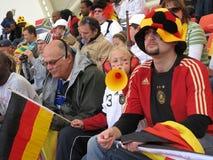 Ventilateurs de football allemands Image stock