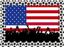 Ventilateurs de football Etats-Unis illustration libre de droits