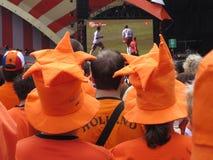 Ventilateurs de football hollandais Photo libre de droits