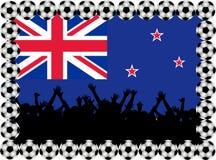 Ventilateurs de football Nouvelle Zélande illustration libre de droits