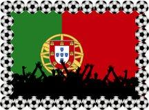 Ventilateurs de football Portugal illustration de vecteur