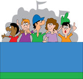 Ventilateurs de sports 2 illustration libre de droits