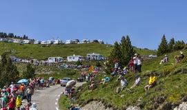 Ventilateurs de Tour de France Photo libre de droits