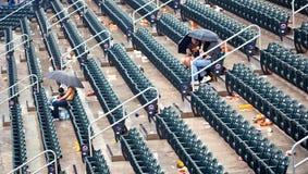 Ventilateurs du patient NY Mets pendant la saison 2009 Images libres de droits