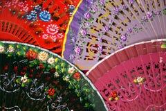 Ventilateurs espagnols vifs Image stock