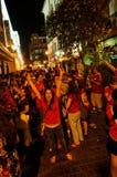 Ventilateurs heureux de l'Espagne Image libre de droits
