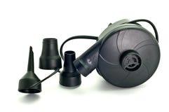 Ventilateurs noirs pour les jouets gonflables de piscine Photo stock