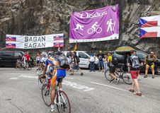 Ventilateurs sur les routes du Tour de France de le Images stock