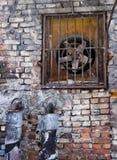 Ventilatie in een bakstenen muur royalty-vrije stock afbeeldingen