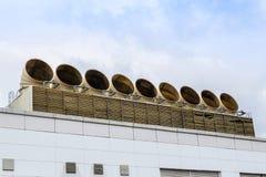 Ventilatiepijpen van airconditionersysteem Royalty-vrije Stock Fotografie