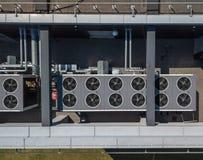 Ventilatiesysteem op het dak van het gebouw, hvac royalty-vrije stock fotografie