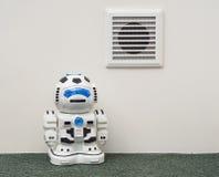 Ventilatietraliewerk en de robot in het binnenland Stock Afbeelding