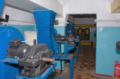 Ventilating equipment in underground military bunker Stock Photos
