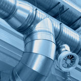 Ventilating pipes Stock Photography