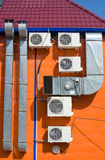 Ventilation and air conditioners Stock Photography