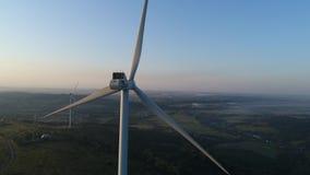 Ventilation av en närbild av vindgeneratorn stock video