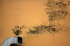 Ventilation causes mold Stock Photography