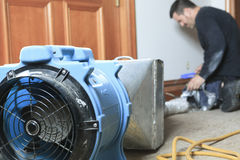 Ventilation cleaner working on a air system Royalty Free Stock Image