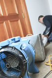 Ventilation cleaner working on a air system Royalty Free Stock Images
