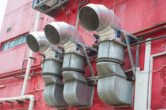 Ventilation ducts of restaurant in town Stock Photography
