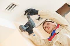 Ventilation engineer worker Stock Photo