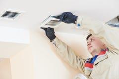 Ventilation engineer worker Stock Photography