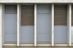 Ventilation exhaust grille. At building exterior Royalty Free Stock Photography