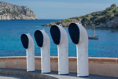 Ventilation för fyra fartyg eller ventilationsrör på en gata Royaltyfri Bild