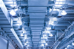 ventilation för rør för lufttillståndsenv ny Arkivfoton