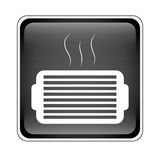 Ventilation grill icon. Inside black square over white background. vector illustration Stock Images
