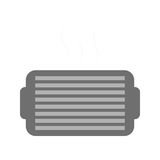Ventilation grill icon. Over white background. vector illustration Royalty Free Stock Images