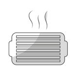 Ventilation grill icon. Over white background. vector illustration Royalty Free Stock Photos