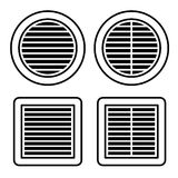 Ventilation grille black symbol. Illustration for the web Stock Photos