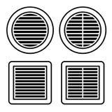 Ventilation grille black symbol Stock Photos