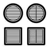Ventilation grille black symbol. Illustration for the web Royalty Free Stock Photos