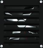 Ventilation grille, 3D. Black bathroom ventilation grille, 3D royalty free illustration