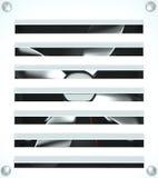Ventilation grille, 3D. White bathroom ventilation grille, 3D stock illustration
