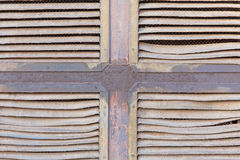 Ventilation grille. Old ventilation grille with traces of rust Royalty Free Stock Images