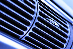Ventilation Holes. A modern car's ventilation system. Shallow DOF, focus on the white marker on the vent's knob Royalty Free Stock Photos