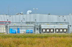Outdoor conditioning air industrial unit Royalty Free Stock Photography
