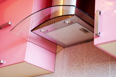 Ventilation of modern kitchen. Ventilation of modern pink kitchen Stock Images