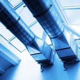 Ventilation pipes Royalty Free Stock Images