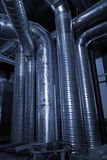 Ventilation pipes of an air condition Stock Image