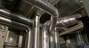 Ventilation pipes of an air condition Stock Photography